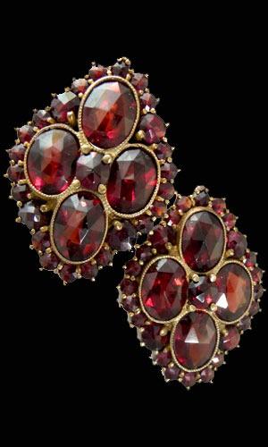 Vintage garnet jewelry
