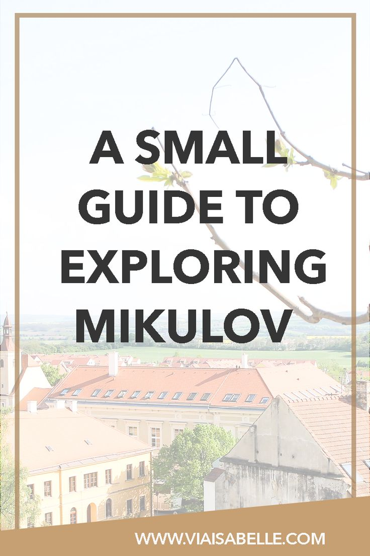 Have you heard of Mikulov from South Moravia? It's a small town bordering the Czech Republic and Austria that's as picturesque as possible with great wine and coffee! Fall in love with Mikulov by clicking the link above!