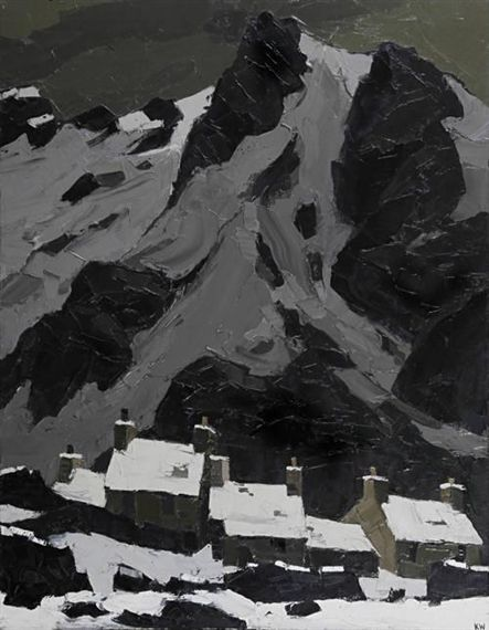 peira: Sir Kyffin Williams: Snow at Gwastadnant...