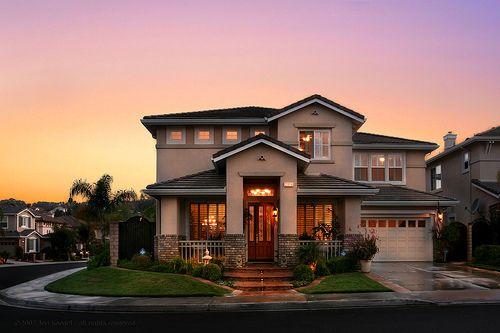 Beautiful home at sunset