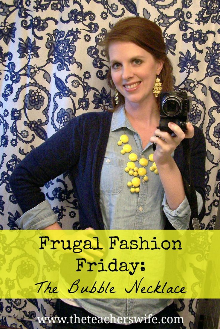 Frugal Fashion Friday - The Bubble Necklace.  Who says that bubble necklaces are only for dressy outfits?  I am in love with these and can't wait to wear mine all year round.