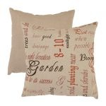 "Pillow Perfect Eco-Friendly French Tea Red and Tan Linen Polyester Throw Pillow 11.5"" x 18.5"" Decorative Pillows"