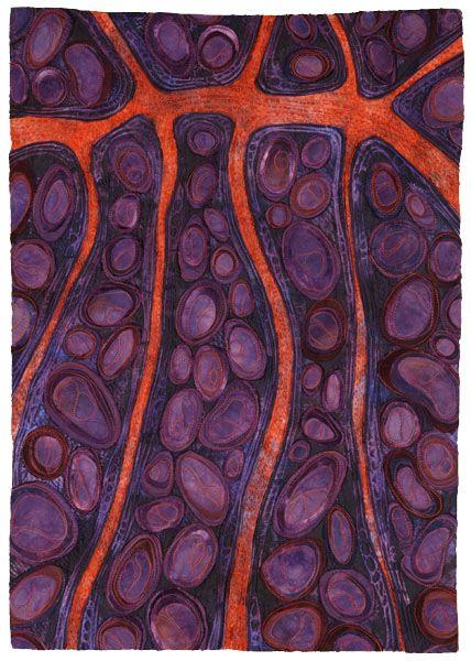 The Spaces Between IV: Karen Kamenetzky Art Quilt