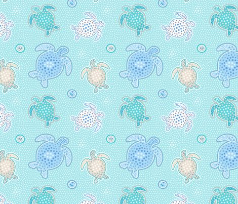 Dots and Turtles fabric by nossisel on Spoonflower - custom fabric