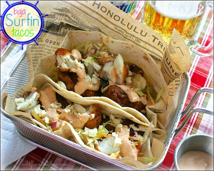 Baja surfin 39 tacos recipes i want to try pinterest for Fish tacos cod