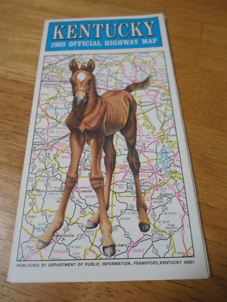 Kentucky 1968 Official Highway Map Vintage by 2xisnice on Etsy