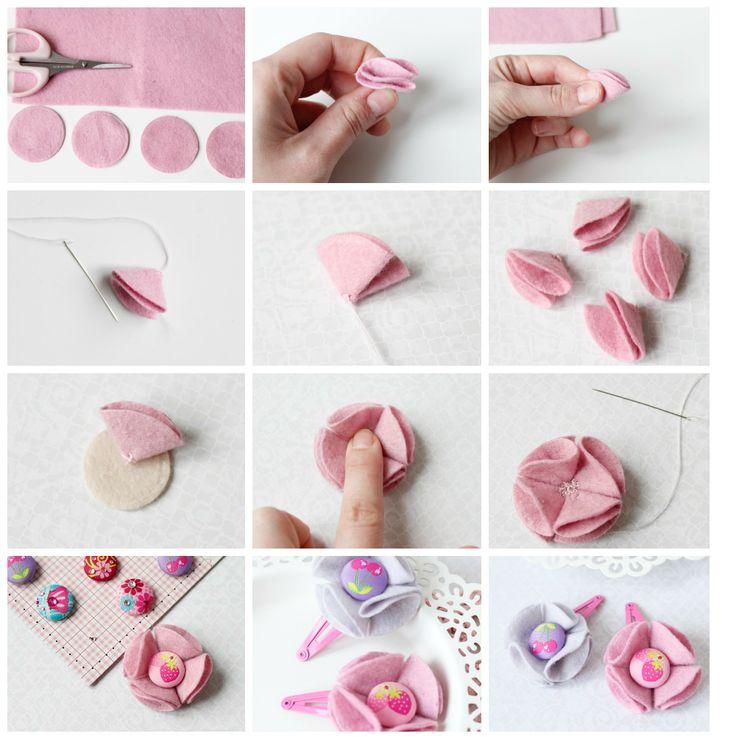 Barbara Handmade...: Filcowe spinki do włosów -inspiracja dla DP Craft
