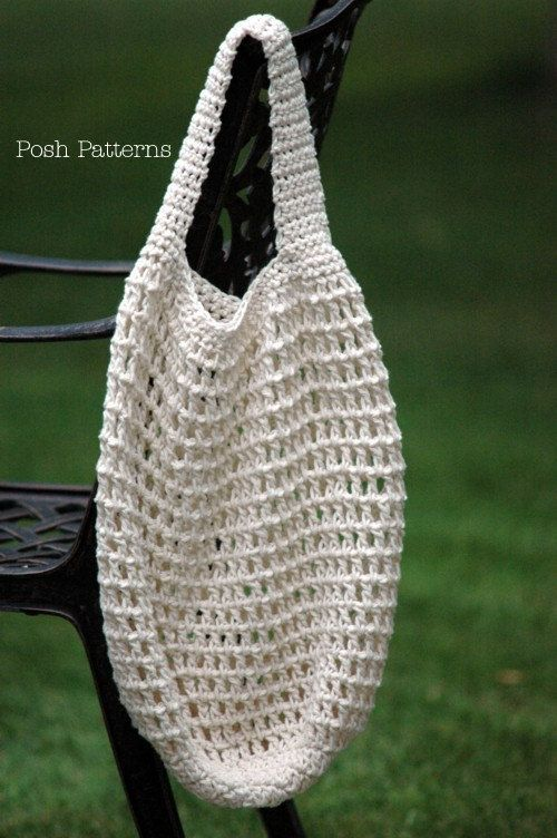 green shopping bag crochet pattern