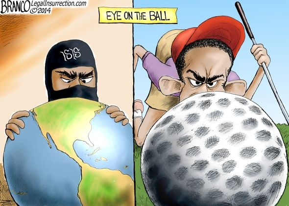 Obama sure knows how to keep his eye on the ball... sadly, it's just the wrong ball.                CHECK OUT MORE OF A.F. BRANCO'S GREAT WO...