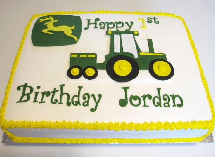 1st Birthday John Deere Cake