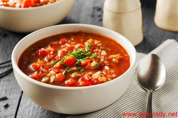 Рецепт холодного томатного супа гаспачо, родом из Испании