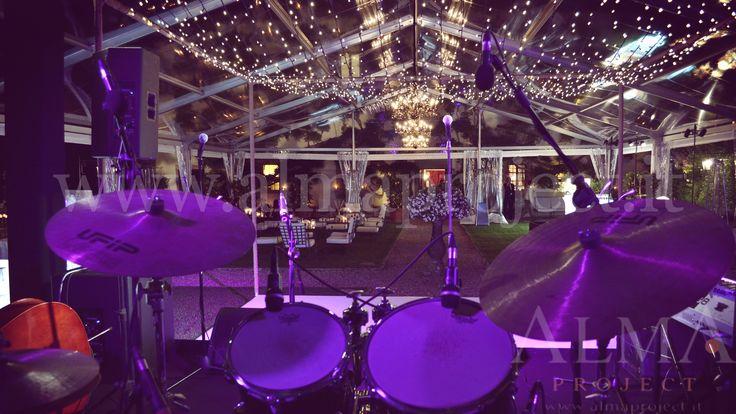 ALMA PROJECT @ Villa San Michele - Fairy light production - White Dancefloor - Black Stage - MH - Backline - pinspots buffet Marquee - 634
