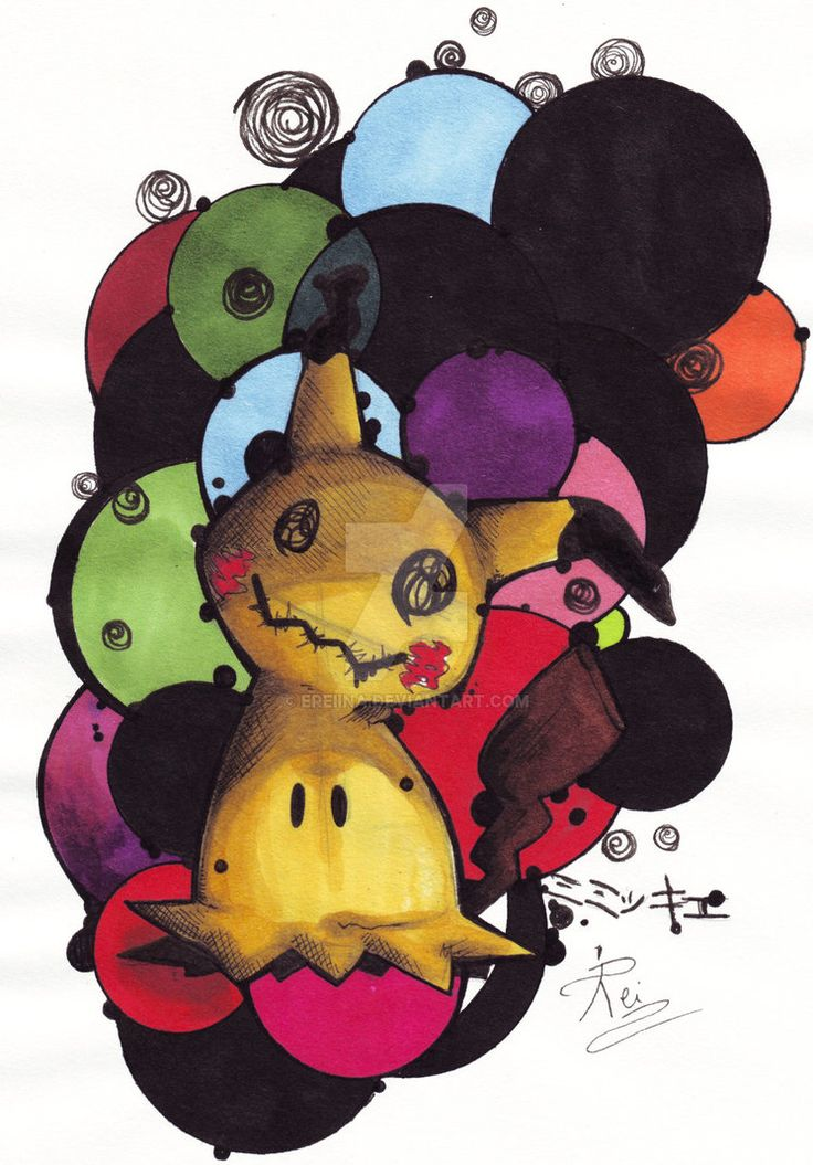 Mimikkyu - 7th gen POKEMON lil by eREIina.deviantart.com on @DeviantArt