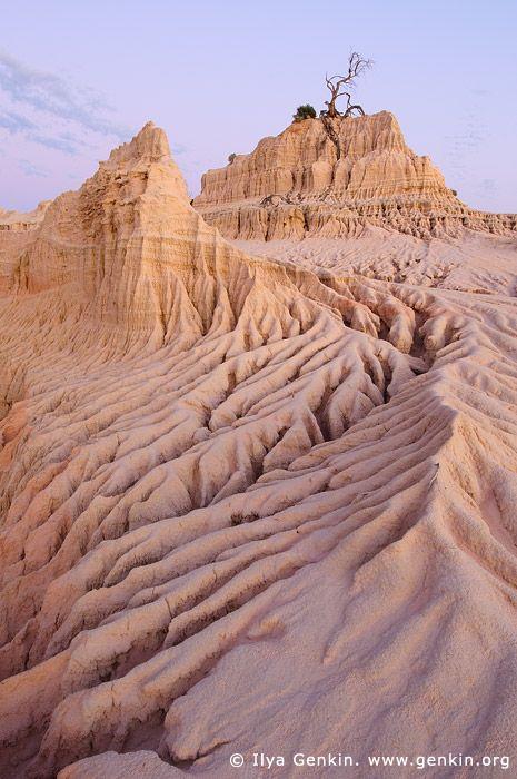 Dusk at The Walls of China. Mungo National Park. Photograph by Ilya Genkin