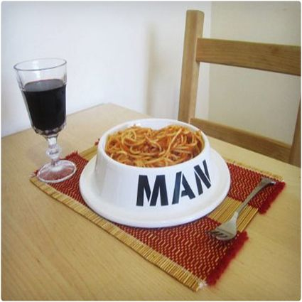 Now your man and his best friend can enjoy meals together...