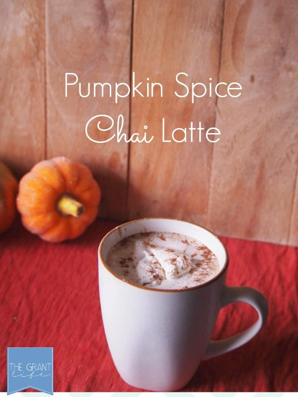 Pumpkin spice chai latte.  Perfect way to start fall!  Pumpkin and chai and…