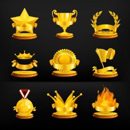 Gold Medal Icons