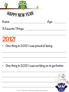 2013 Resolutions for Kids! What a neat idea, can also be used