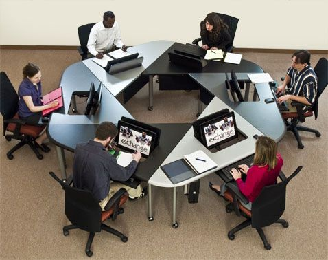 Exchange Hexagonal Collaboration Table By Smartdesks Used