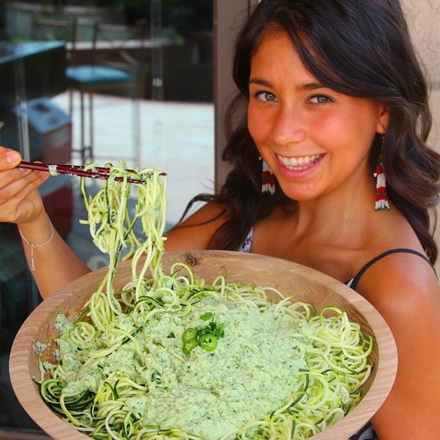 Low Fat Raw vegan pasta anyone!?! This recipe will blow your mind! It's spicy too and has a Mexican flavor to it! Video for recipe is on my YouTube.com/officialrawvana! Link for the video is up on my profile! Video is in Spanish but the ingredients are written in English. This video includes a raffle too and a chance for you to win a Spiralizer to make raw vegan pasta! YUM!