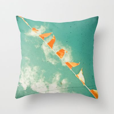 Bunting Throw Pillow by Cassia Beck - $20.00