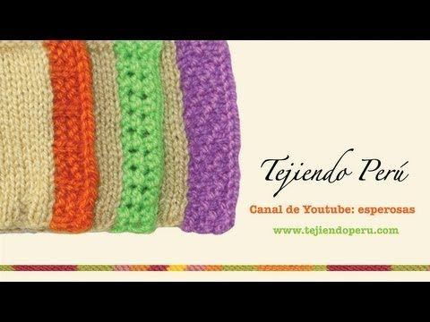 Bordes para delanteras de chompas tejidas en dos agujas - YouTube