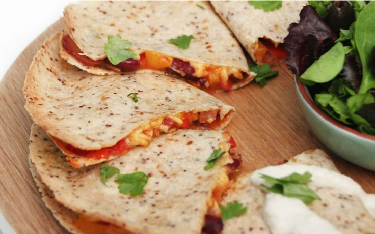 <p>Turn up the heat as the weather gets colder with this spicy quesadilla recipe. A warm tortilla stuffed with spiced vegetables and melted cheese, this recipe is sure to hit the spot. </p>