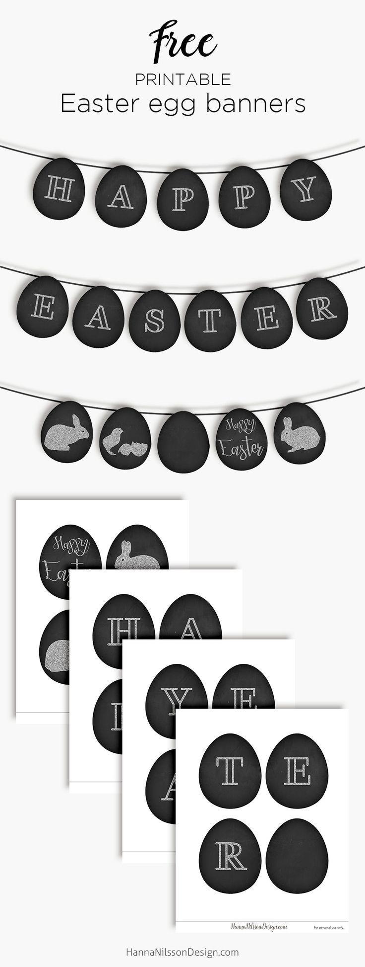 Easter egg banner | Free printable spring decor | #easter #printable #spring #ba…   – EASTER 2019