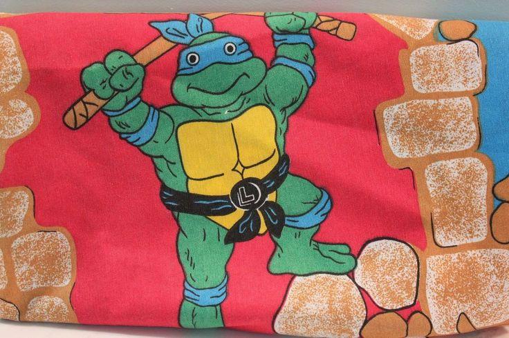 Teenage Mutant Ninja Turtle Sheet Fitted Sheet Twin 1988 Vintage