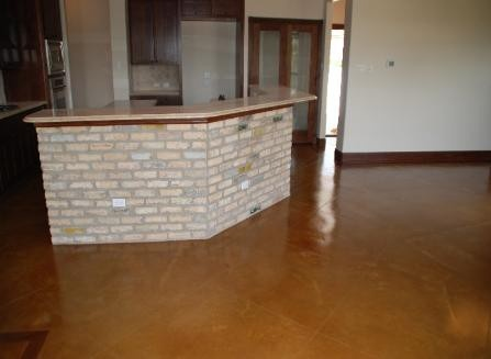 Painted concrete floor