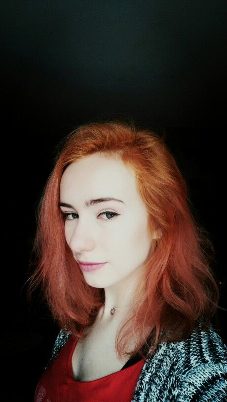 Red pink orange hair