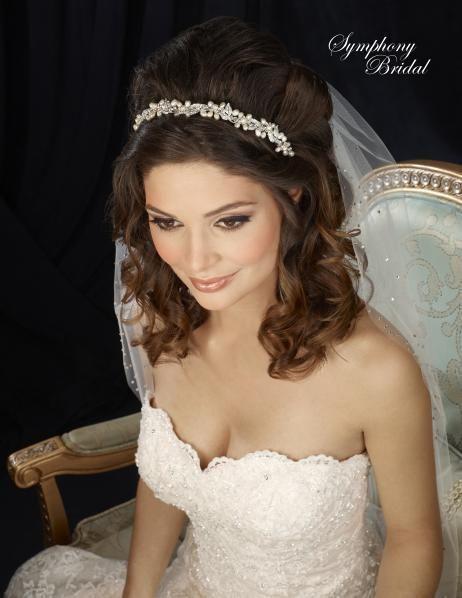 Lovely Freshwater Pearl Vine Headband Symphony Bridal 7313CR - Affordable Elegance Bridal -