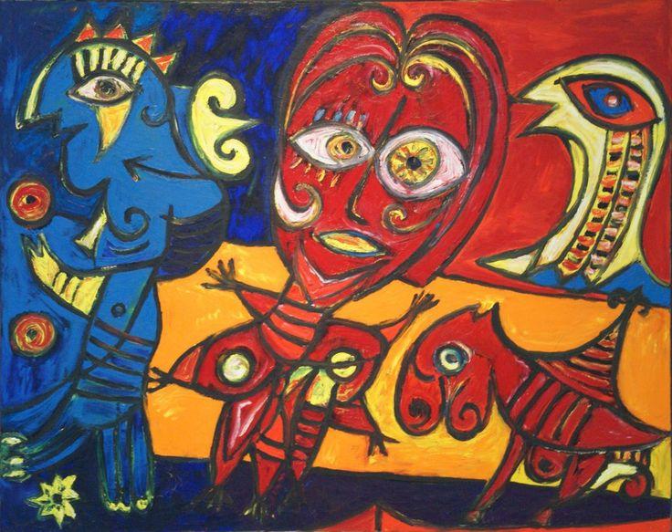 Carl-Henning Pedersen: Den blå jonglør, 1974