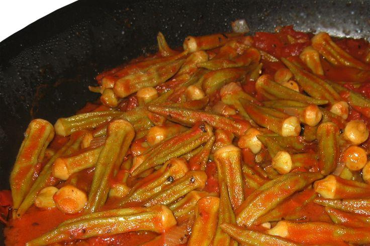 Armenian - Bamia - Meat and Okra Stew.  I LOVE to place this over my Armenian Pilaf (rice) SOOOOOO GOOOOODDDD!!! <3