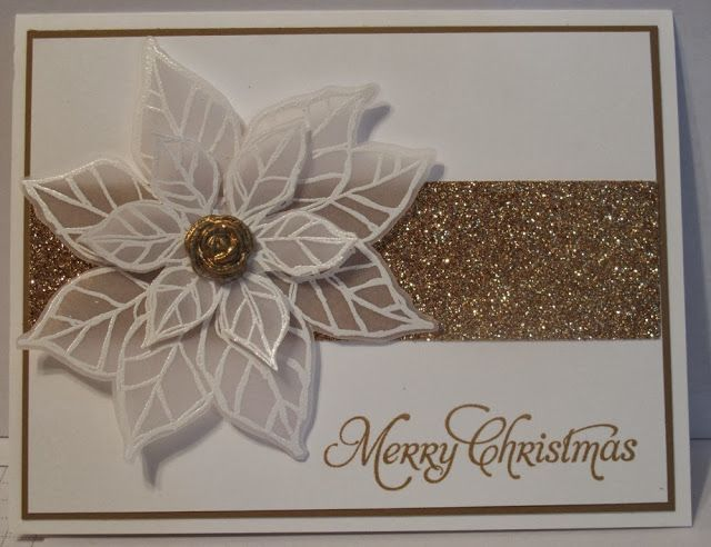 In My Craft Room - Stamping With Glenda: Joyful Christmas Vellum Poinsettia Cards