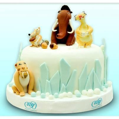 L'era glaciale  www.decorazionidolci.it Idee e strumenti per il #cakedesign