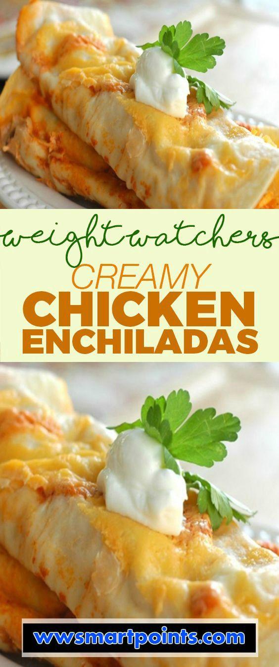 Creamy Chicken Enchiladas weight watchers Smartpoints 6