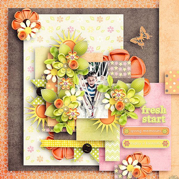 A happy spring day by Tinci Designs template A happy spring day template pack 2. by Tinci Designs