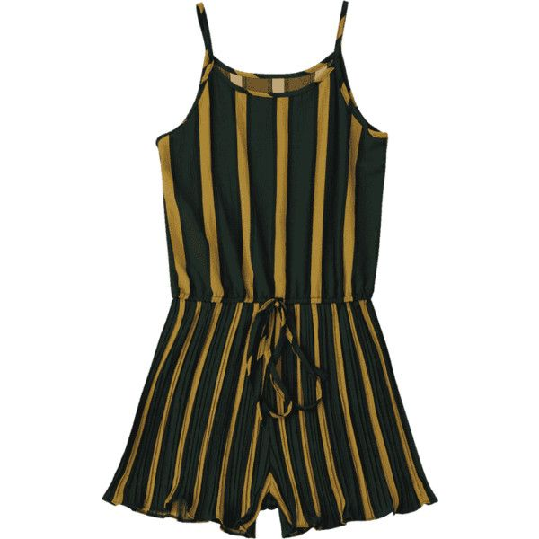 Self Tie Striped Cami Romper Stripe ($16) ❤ liked on Polyvore featuring jumpsuits, rompers, playsuit jumpsuit, striped cami, playsuit romper, cami jumpsuit and striped jumpsuit