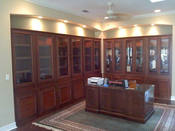 Custom Made Custom Home Library Bookcases Like The