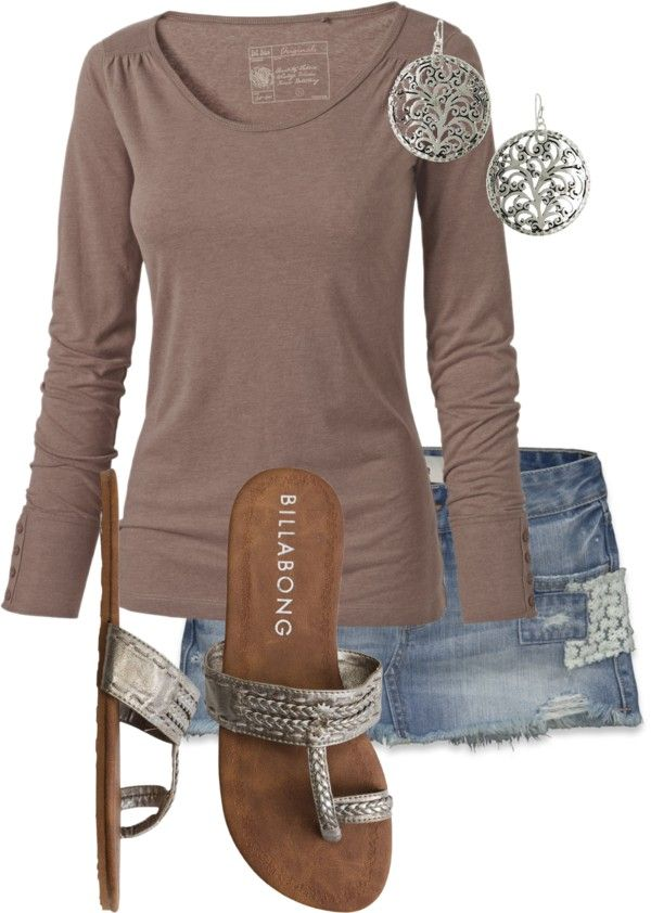 "This top. These sandals. ""springy by mandys120"" by mandys120 on Polyvore"
