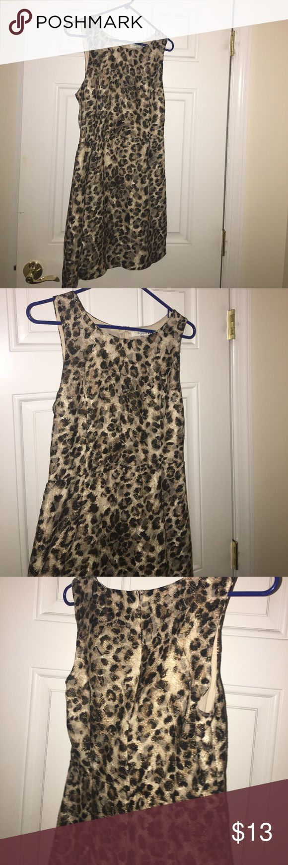 Cheetah dress Cute formal/business casual cheetah dress. Pretty much New only worn once. Forever 21 Dresses