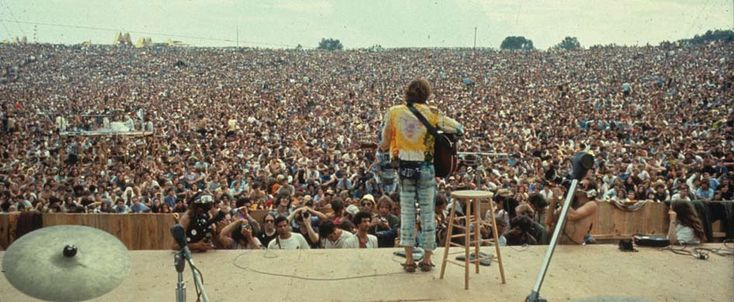 Woodstock Festival - 1969 - Approximately 500,000 attended...600 acre dairy farm in the Catskills...