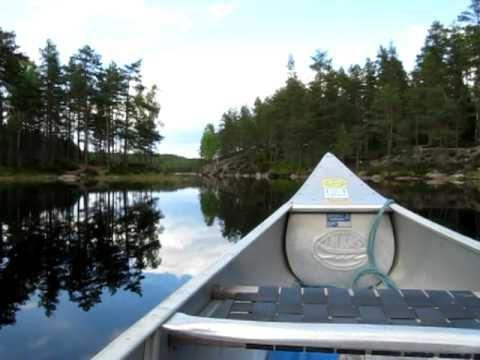 Arvika Sweden Glaskogens natural park canoeing 03.05.2010