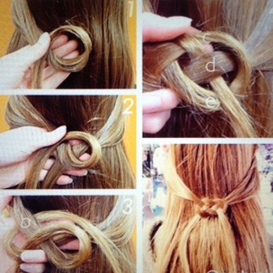 Braided Celtic Hair Knot. Perfect half up and completely different, I love it