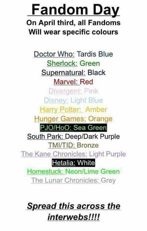Ok, why do I have so many fandoms for colours