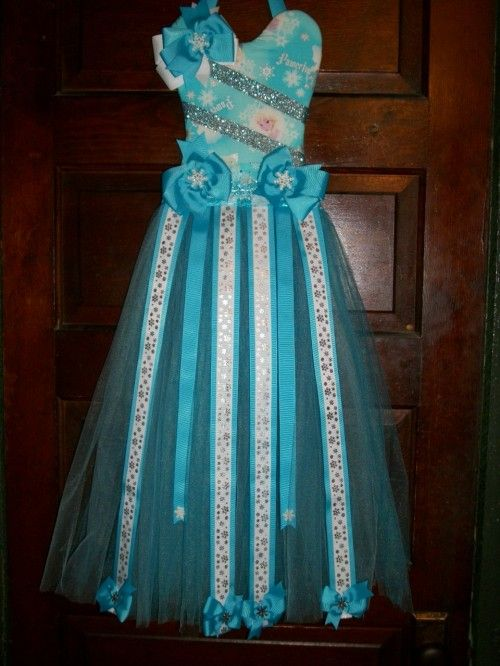 Frozen Elsa Tutu Bow Holder