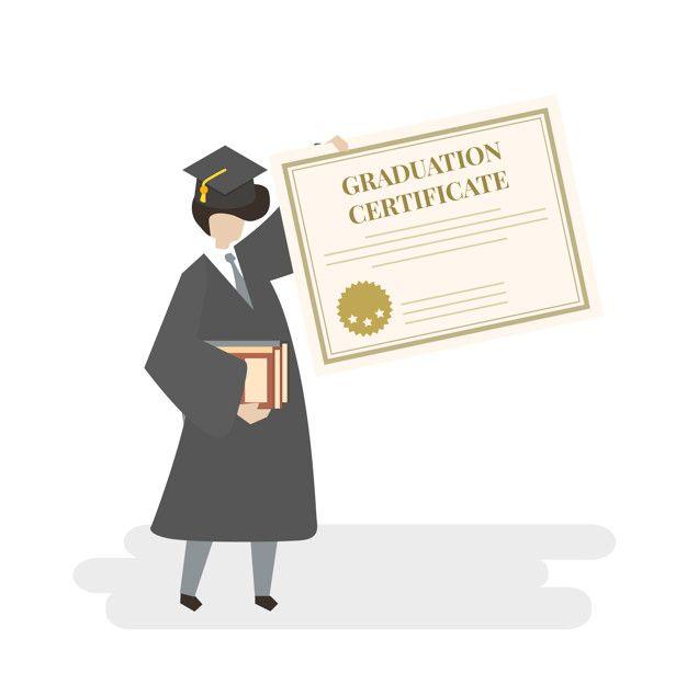 Baixe Ilustracao De Graduacao Certificado Gratuitamente Graduation Poster Illustration Certificate