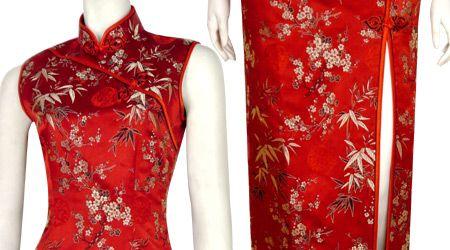 Chinese Silk Brocade Cheongsam,Chinese Dresses,Chinese Clothing