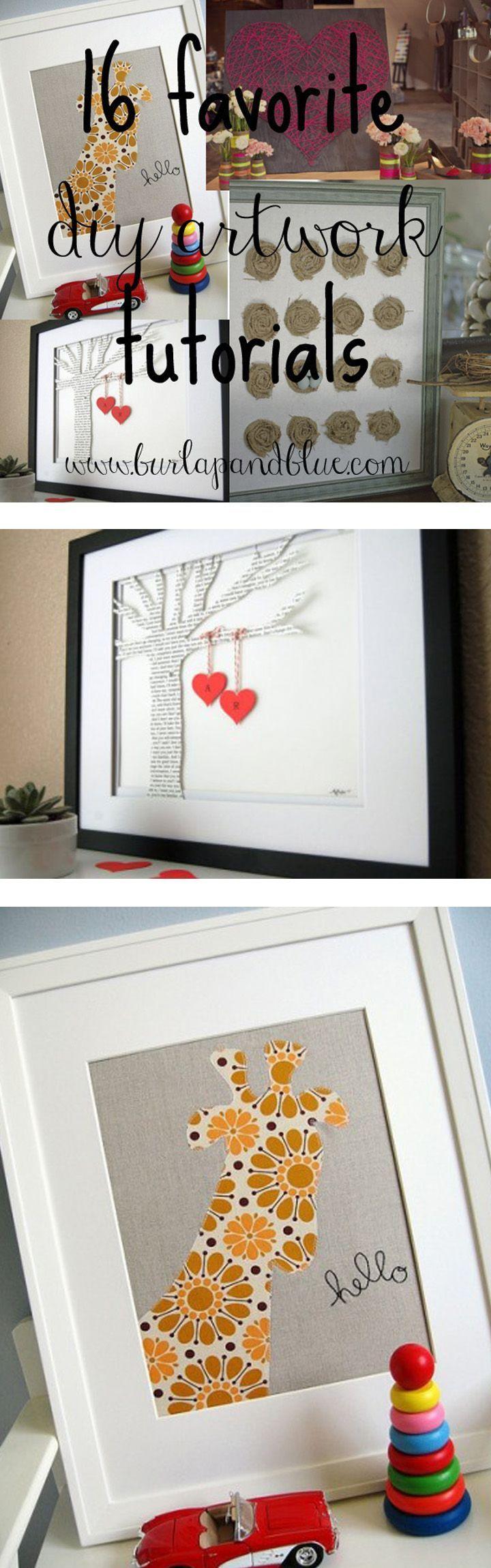 Favorite DIY Artwork Tutorials! Your empty walls need these ideas!